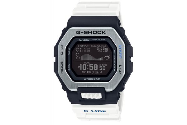 Large image of G-Shock White & Black G-LIDE Mens Watch - GBX1007