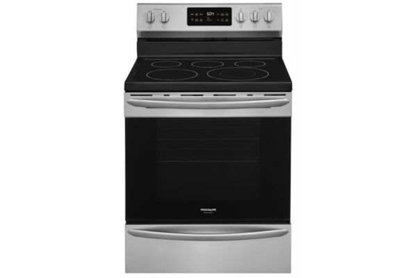 """Large image of Frigidaire Gallery 30"""" Smudge-Proof Stainless Steel Freestanding Electric Range With Steam Clean - GCRE3038AF"""