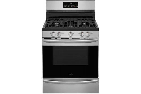 """Large image of Frigidaire Gallery 30"""" Stainless Steel Freestanding Gas Range With Air Fry - GCRG3060AF"""