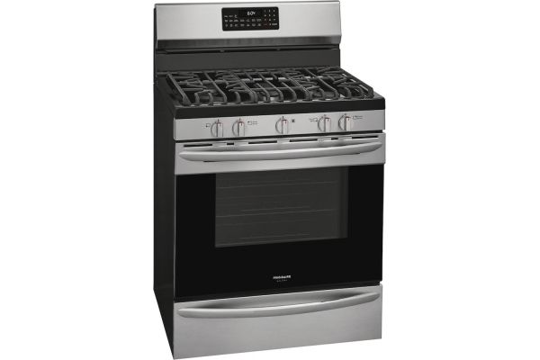 """Frigidaire Gallery 30"""" Stainless Steel Freestanding Gas Range With Air Fry - GCRG3060AF"""