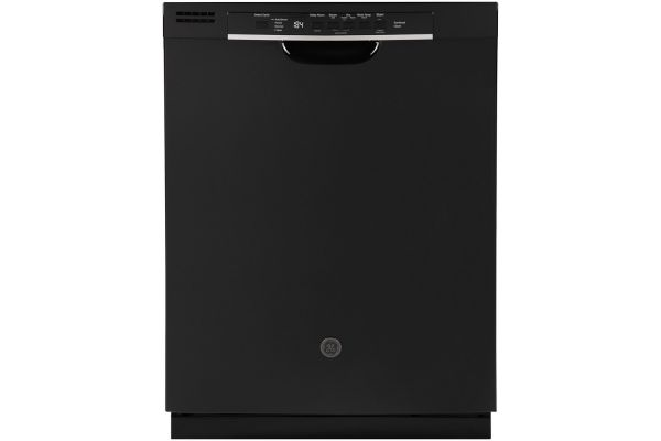 """Large image of GE 24"""" Black Front Control Dishwasher With Sanitize Cycle & Dry Boost - GDF530PGMBB"""