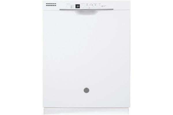 "Large image of GE White 24"" Built-In Dishwasher - GDF530PGMWW"