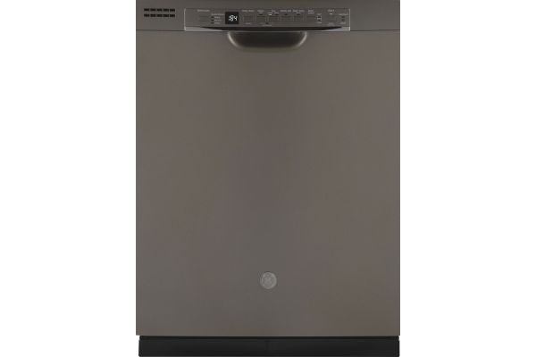 """Large image of GE 24"""" Slate Front Control Dishwasher With Sanitize Cycle & Dry Boost - GDF640HMMES"""