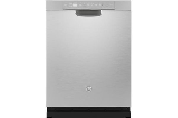 """Large image of GE 24"""" Stainless Steel Front Control Dishwasher With Sanitize Cycle & Dry Boost - GDF645SSNSS"""