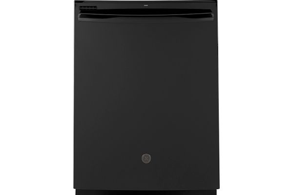 """Large image of GE 24"""" Black Top Control Dishwasher With Sanitize Cycle & Dry Boost - GDT530PGPBB"""