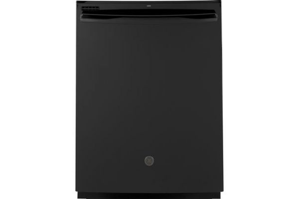 """Large image of GE 24"""" Black Built-In Dishwasher - GDT605PGMBB"""