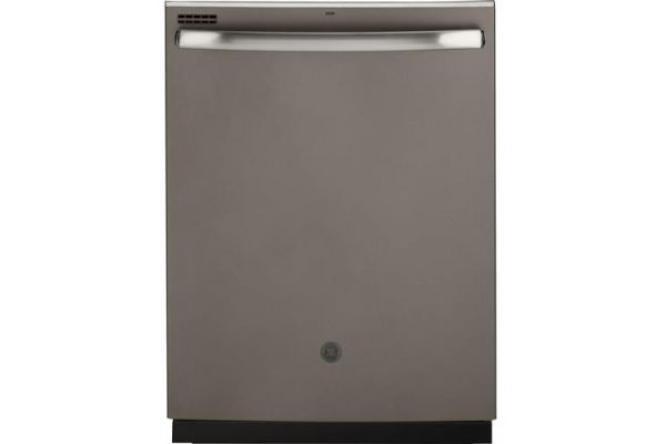 """Large image of GE 24"""" Slate Top Control Dishwasher With Sanitize Cycle & Dry Boost - GDT605PMMES"""