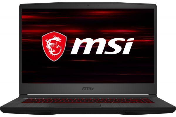 "Large image of MSI GF65 Thin Aluminum Black 15.6"" 120Hz Gaming Laptop Intel i7-10750H 8GB RAM 512GB SSD, NVIDIA GeForce GTX 1660 Ti - GF65459"