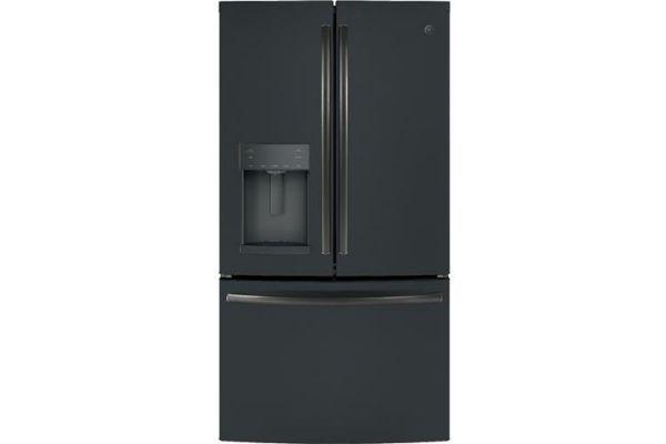 Large image of GE 27.7 Cu. Ft. Black Slate French-Door Refrigerator With Door In Door - GFD28GELDS