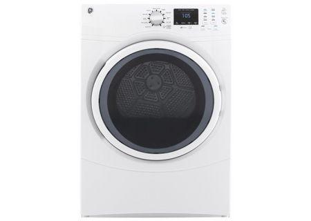 GE White 7.5 Cu. Ft. Front Load Gas Dryer - GFD43GSSMWW