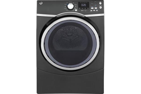GE Diamond Grey 7.5 Cu. Ft. Front Load Steam Electric Dryer - GFD45ESPMDG