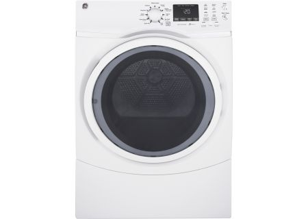 GE White Electric Steam Dryer - GFD45ESSKWW