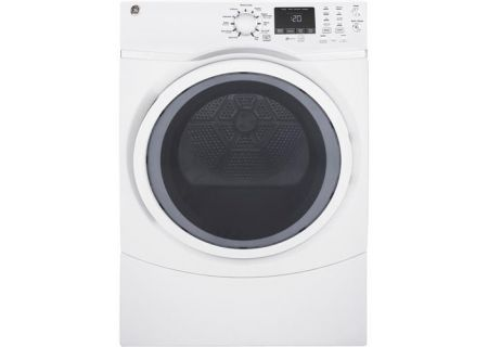 GE White 7.5 Cu. Ft. Front Load Steam Gas Dryer - GFD45GSSMWW