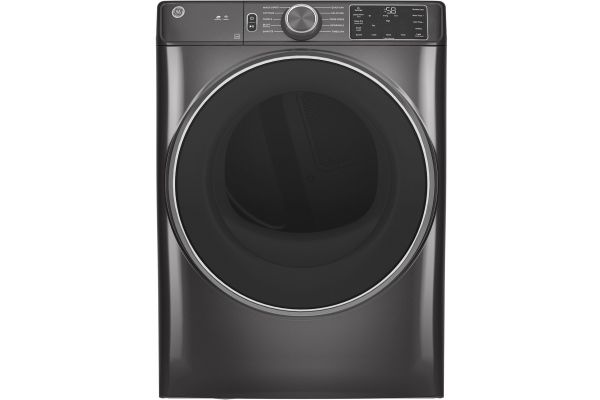 Large image of GE 7.8 Cu. Ft. Diamond Grey Smart Electric Dryer - GFD55ESPNDG