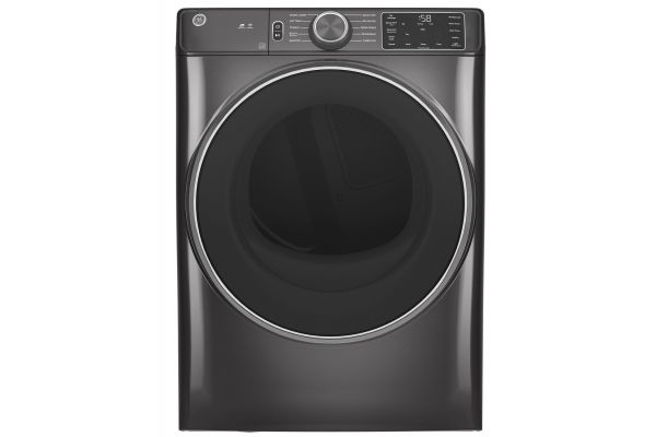 Large image of GE 7.8 Cu. Ft. Diamond Gray Smart Gas Dryer - GFD55GSPNDG