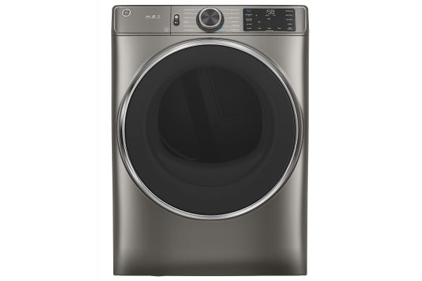Large image of GE 7.8 Cu. Ft. Capacity Satin Nickel Smart Front Load Electric Dryer With Steam - GFD65ESPNSN