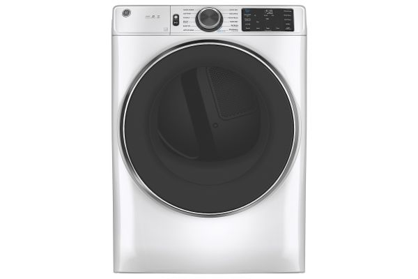 Large image of GE 7.8 Cu. Ft. White Smart Front Load Gas Dryer With Steam And Sanitize Cycle - GFD65GSSNWW