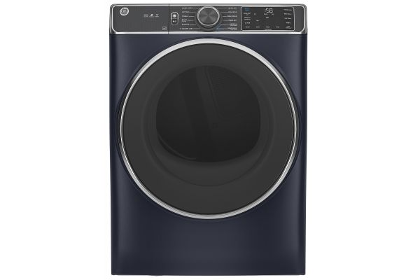 Large image of GE 7.8 Cu. Ft. Capacity Sapphire Blue Smart Front Load Electric Dryer With Steam - GFD85ESPNRS