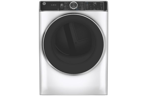 Large image of GE 7.8 Cu. Ft. Capacity White Smart Front Load Electric Dryer With Steam - GFD85ESSNWW