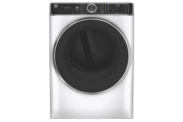 Large image of GE 7.8 Cu. Ft. Capacity White Smart Front Load Gas Dryer With Steam - GFD85GSSNWW