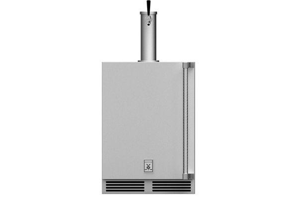"Large image of Hestan 24"" Stainless Steel Right-Hinge Single Faucet Beer Dispenser - GFDSR241"