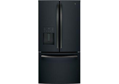 Ge 256 Cuft Black Slate French Door Refrigerator Gfe26jemds