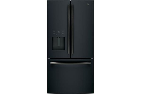 Large image of GE ENERGY STAR 25.6 Cu. Ft. Black Slate French-Door Refrigerator - GFE26JEMDS