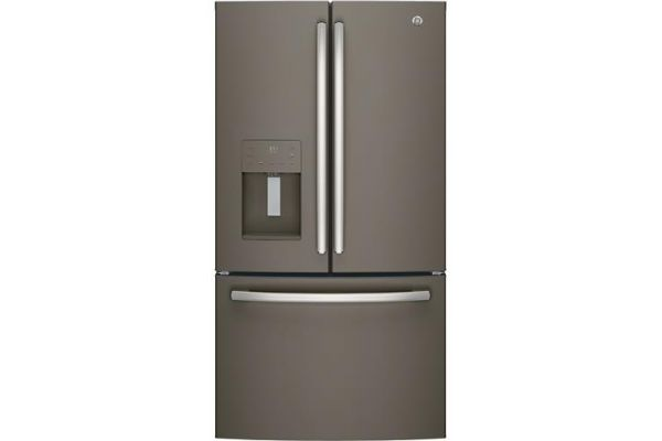 Large image of GE ENERGY STAR 25.6 Cu. Ft. Slate French-Door Refrigerator - GFE26JMMES