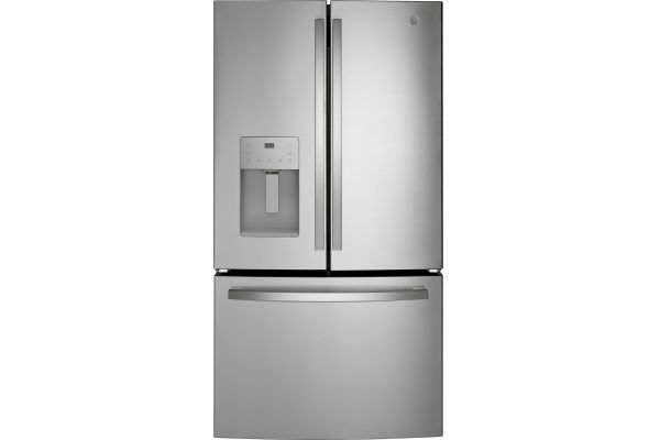 Large image of GE ENERGY STAR 25.6 Cu. Ft. Fingerprint Resistant Stainless Steel French-Door Refrigerator - GFE26JYMFS