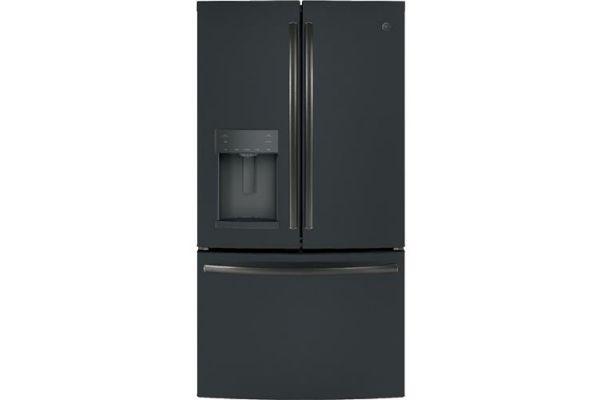 Large image of GE ENERGY STAR 27.7 Cu. Ft. Black Slate French-Door Refrigerator - GFE28GELDS