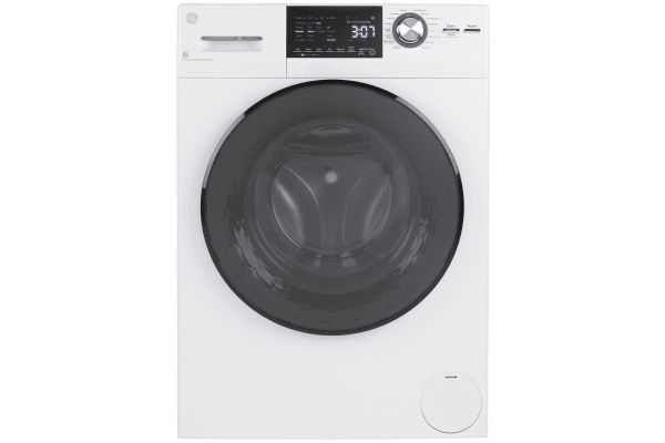 Large image of GE 2.4 Cu. Ft. White Front Load Washer/Condenser Dryer Combo - GFQ14ESSNWW