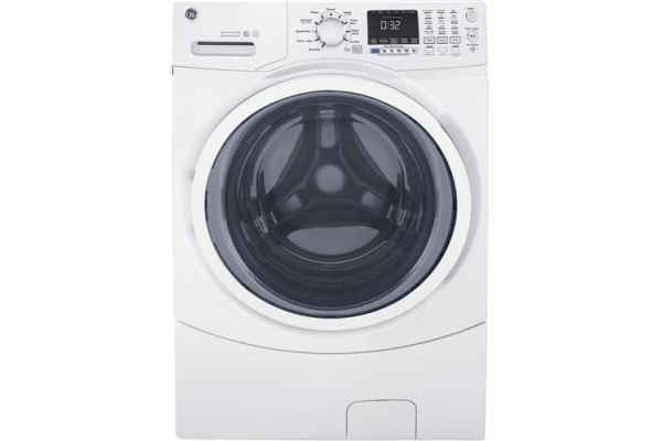 GE White 4.5 Cu. Ft. Front Load Steam Washer - GFW450SSMWW
