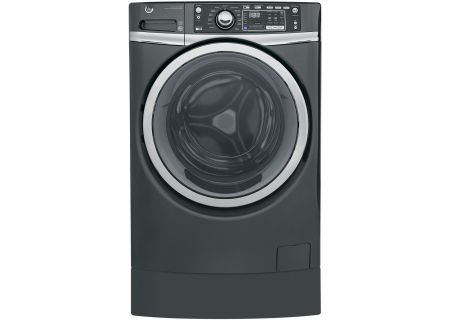 GE Diamond Gray Front Load Steam Washer - GFW490RPKDG