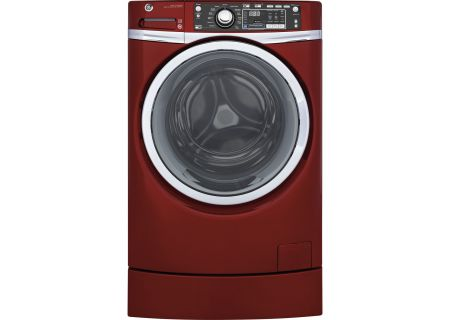 GE Ruby Red Front Load Steam Washer - GFW490RPKRR