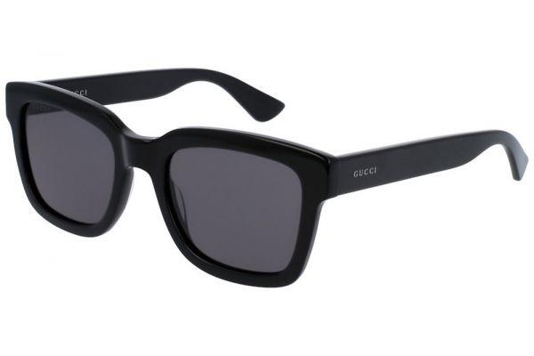 Large image of Gucci Black Square-Frame Mens Sunglasses - GG0001S001