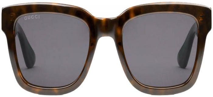27a184e614 Gucci Dark Tortoiseshell Acetate Square-Frame Mens Sunglasses - GG0001S-003  52