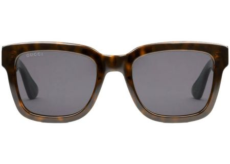 127a48ff6a Gucci Dark Tortoiseshell Acetate Square-Frame Mens Sunglasses - GG0001S-003  52