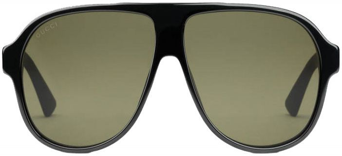fa0188f86b5 Gucci Black Acetate Aviator Mens Sunglasses - GG0009S 001 59