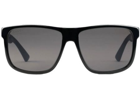 ba60afea22 Gucci Square-Frame Acetate Black Mens Sunglasses - GG0010S-001 58
