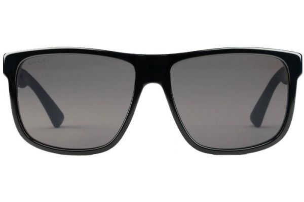 Large image of Gucci Square-Frame Acetate Black Mens Sunglasses - GG0010S-001 58