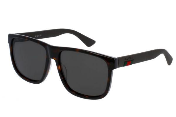 Large image of Gucci GG0010S Polarized Havana Sunglasses 58mm - GG0010S-003