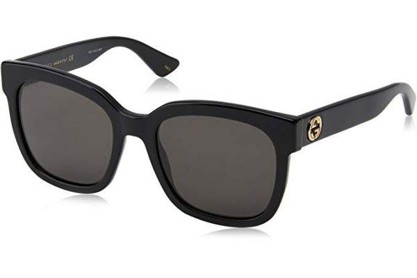 Gucci Black Square Acetate Womens Sunglasses - GG0034S-001 - GG0034S-001
