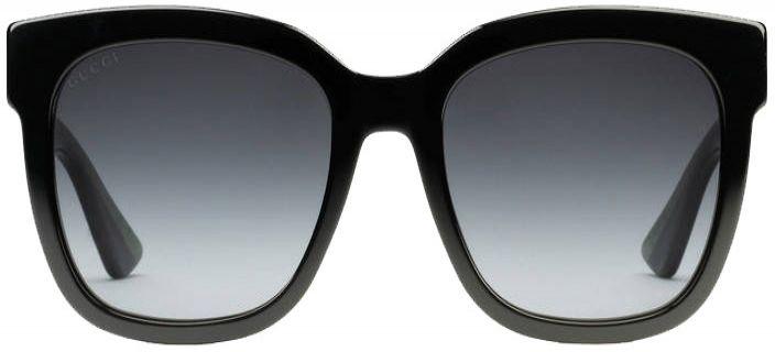 e8e1e10396037 Gucci Black Square Glitter Acetate Womens Sunglasses - GG0034S-002 54