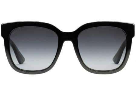 471cfa991562 Gucci Black Square Glitter Acetate Womens Sunglasses - GG0034S-002 54