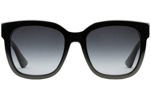 Gucci Black Square Glitter Acetate Womens Sunglasses - GG0034S-002 54