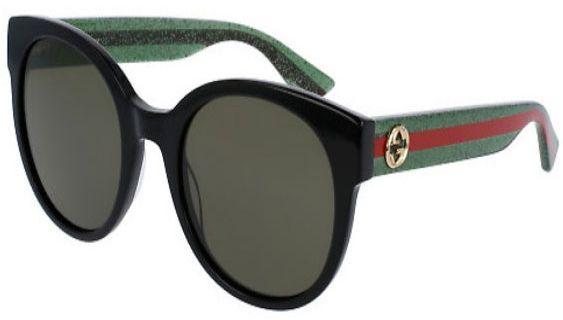 129ce9908a Gucci Black Acetate Round-Frame Womens Sunglasses - GG0035S 002 54