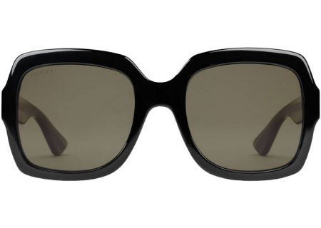 Gucci Black Oversized Square-Frame Womens Sunglasses - GG0036S-002 54