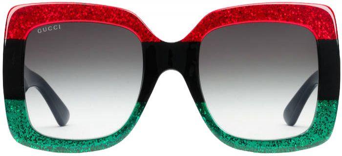 6f7d91834b1 Gucci TriColor Square Acetate Womens Sunglasses - GG0083S-001 55