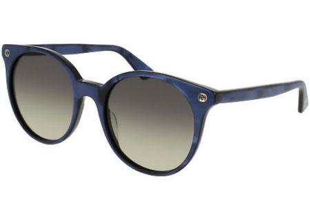 Gucci Pearl Blue Round Acetate Womens Sunglasses - GG0091S-005 52