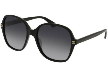 Gucci Black Square Acetate Womens Sunglasses - GG0092S-001 55